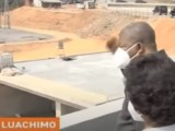 Luachimo Dam   visit by the president of the republic